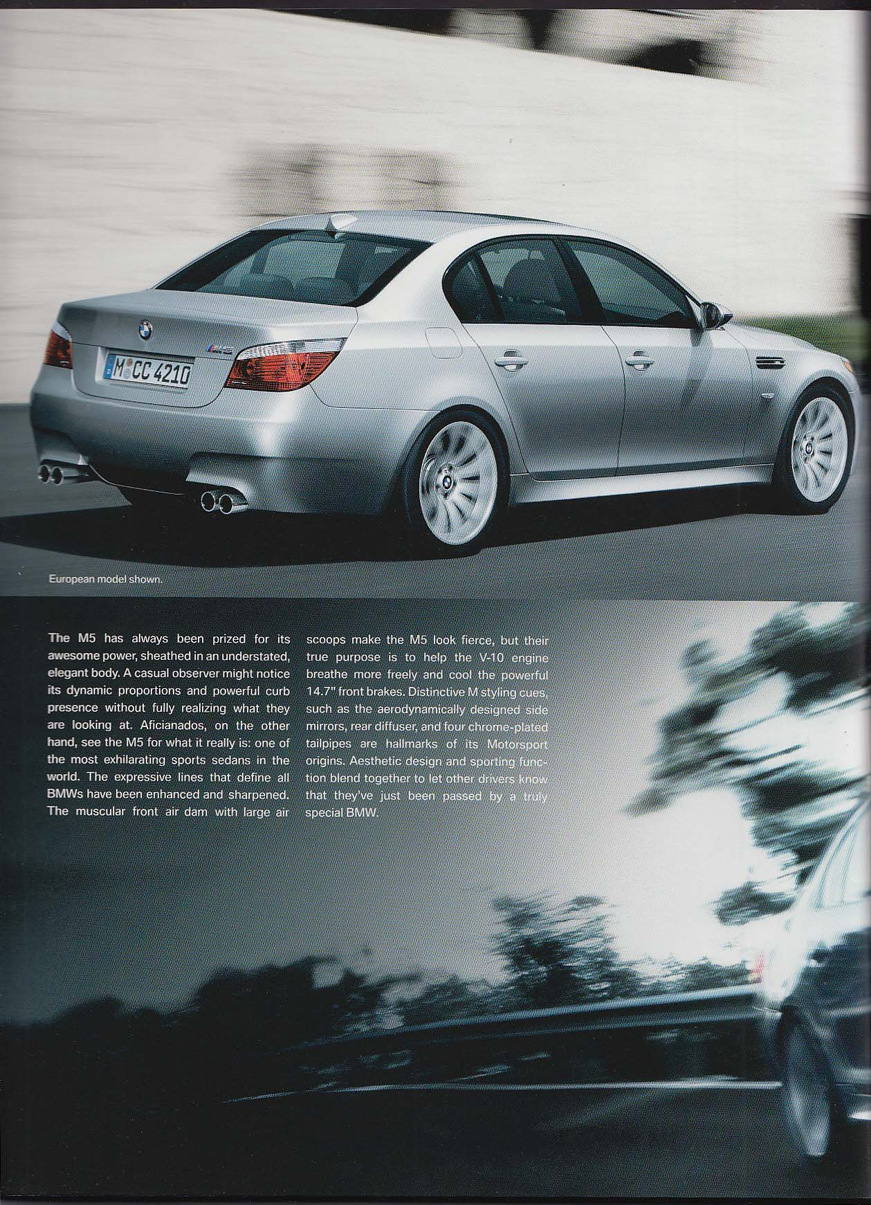 Image for 2006 BMW M5 sales brochure catalog