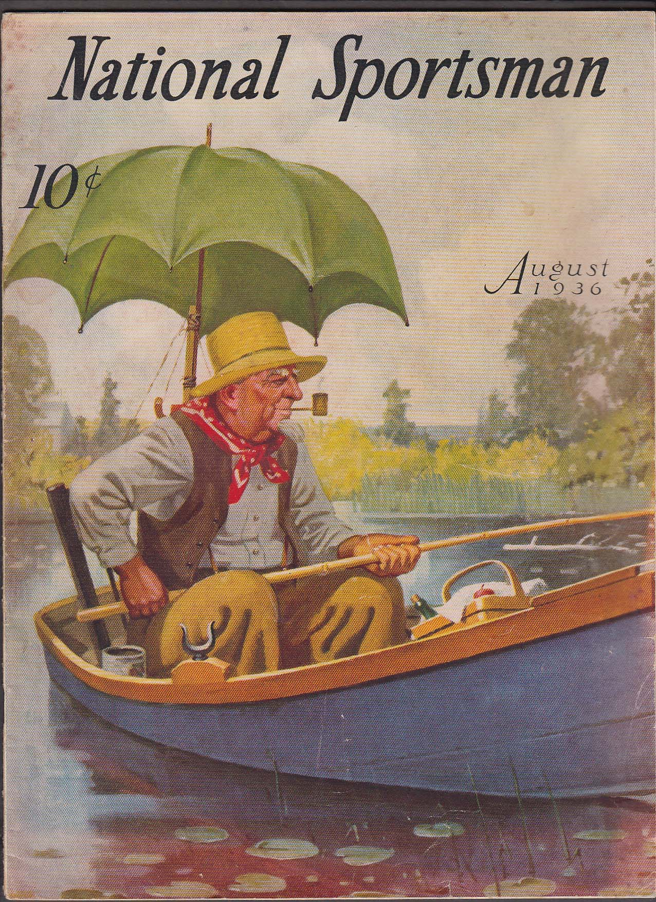 Image for NATIONAL SPORTSMAN John Hume Silver King Big Muskeg Trout ++ 8 1936