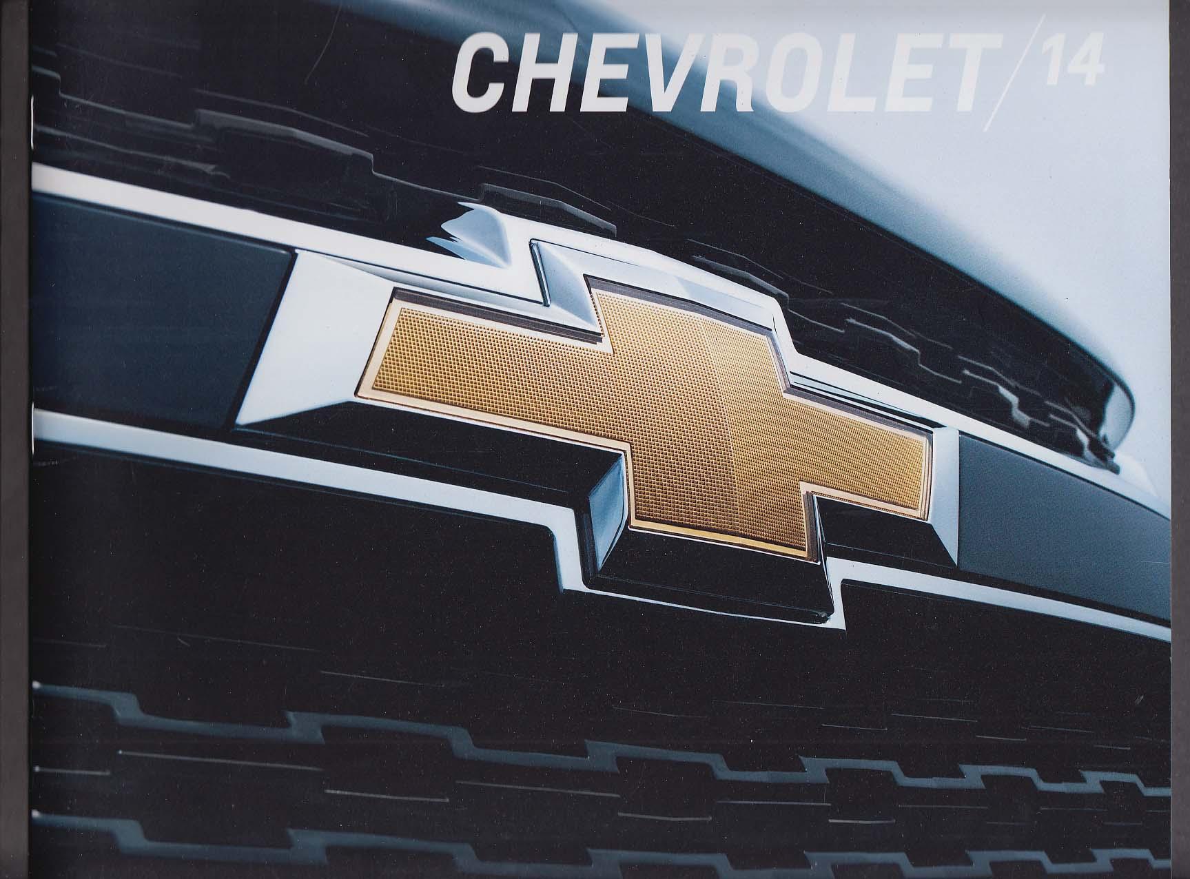 Image for 2014 Chevrolet sales brochure catalog Impala Corvette Stingray Silverado Camaro