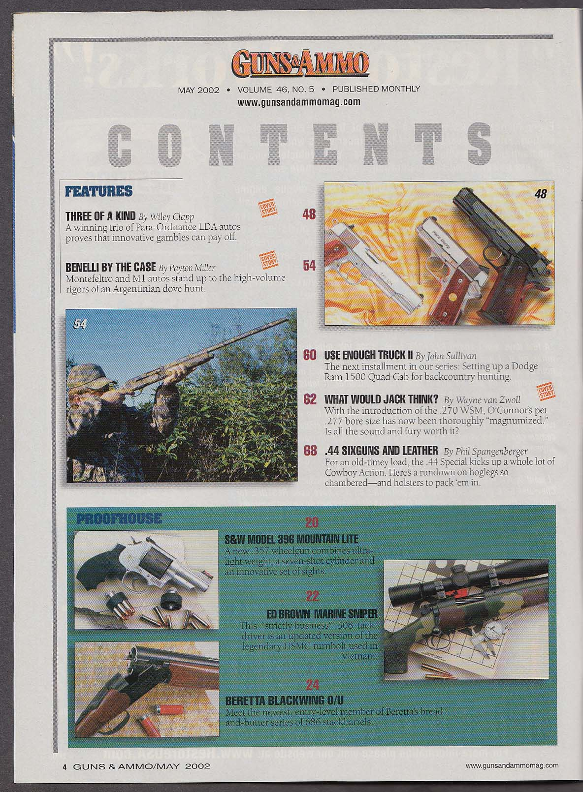 Image for GUNS & AMMO Para-Ordnance LDA Benelli M1 .44 Special + 5 2002