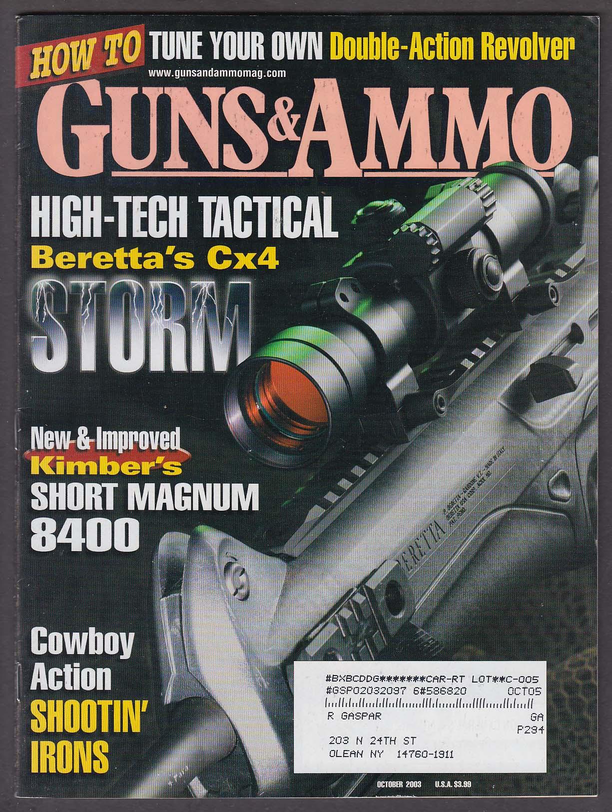 Image for GUNS & AMMO Beretta Cx4 Kimber Short Magnum 8400 Ruger P-Series ++ 10 2003