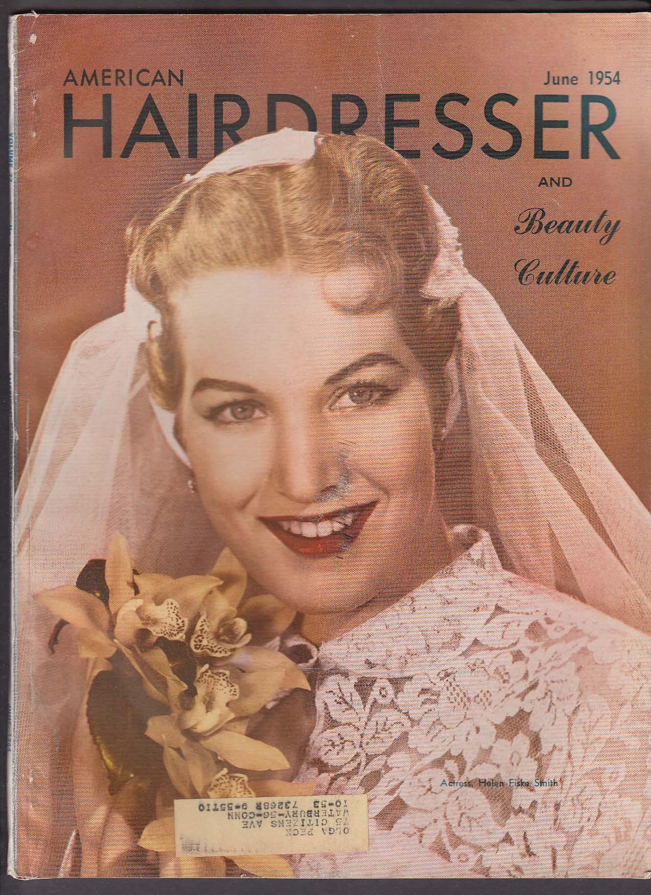AMERICAN HAIRDRESSER Helen Fiske Smith Bridal Hairstyles ++ 6 1954