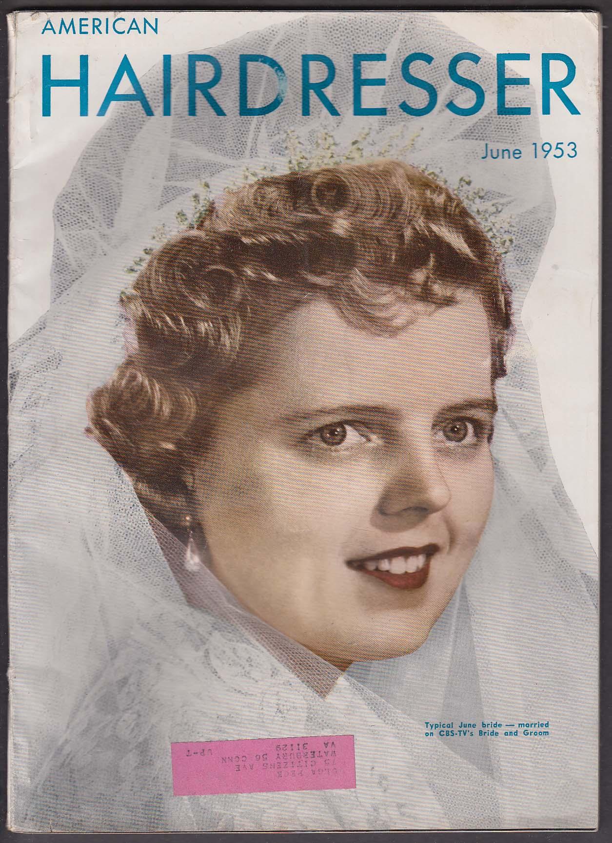 AMERICAN HAIRDRESSER CBS-TV Bride & Groom ++ 6 1953