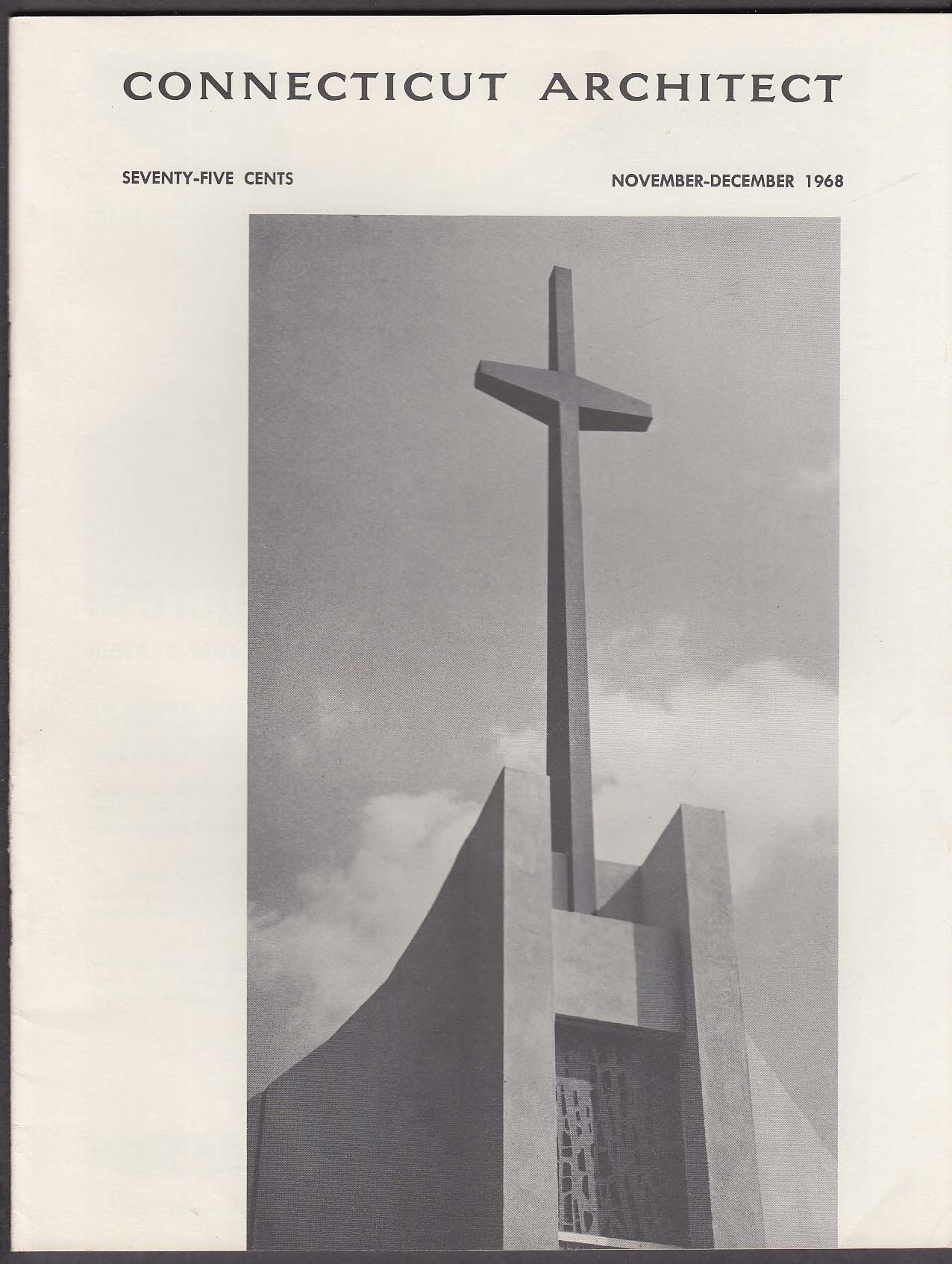 CONNECTICUT ARCHITECT Equal Opportunity Religious Architecture 11-12 1968