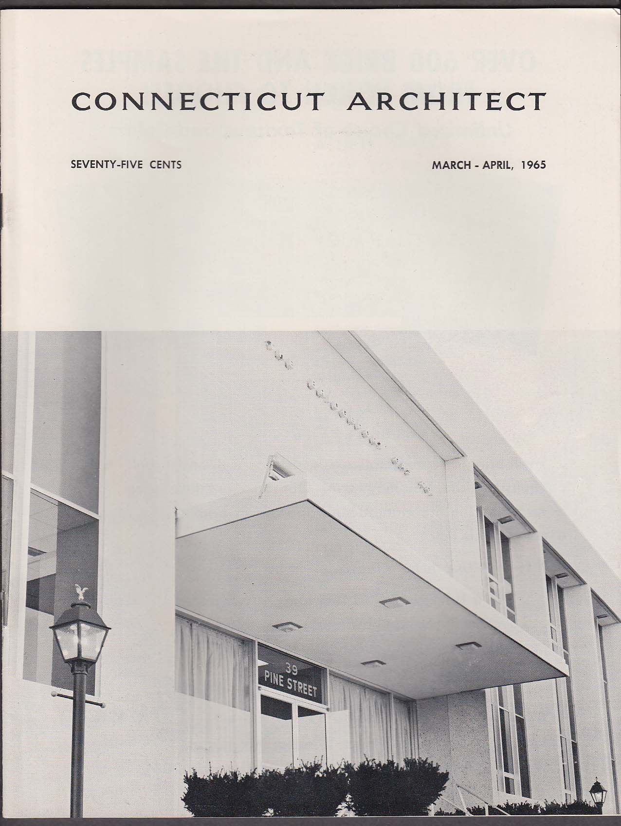 CONNECTICUT ARCHITECT Lighting Consultant Function & Economy ++ 3-4 1965