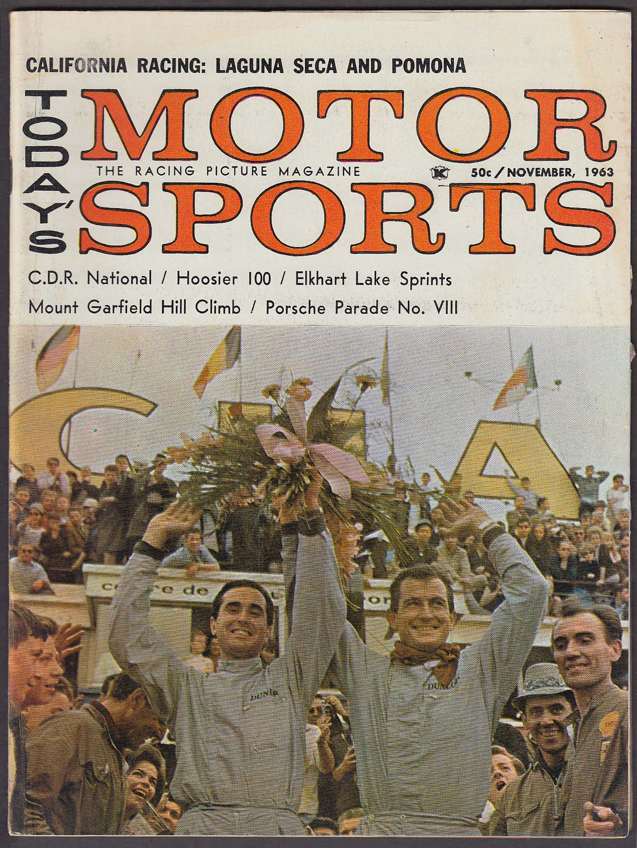 MOTOR SPORTS Mount Garfield Hill Climb Porsche Parade Laguna Seca + 11 1963