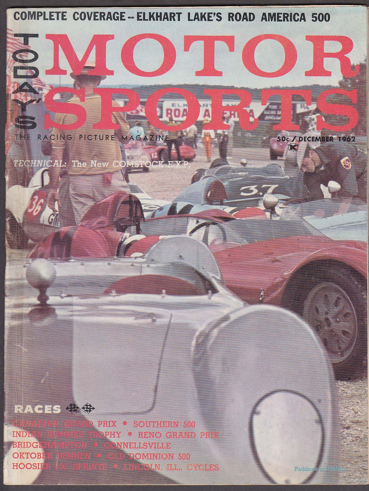 MOTOR SPORTS Elkhart Road America 500 Canada Grand Prix ++ 12 1962