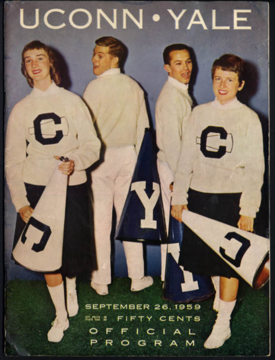 University of Connecticut at Yale College Football Program 1959