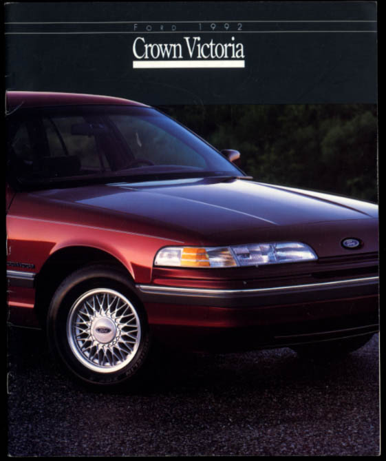 1992 Ford Crown Victoria sales brochure LX & Touring Sedan