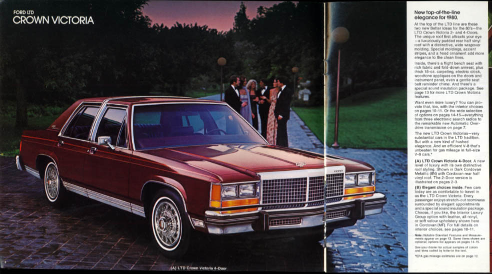 1980 ford ltd brochure crown victoria country squire rev 1 80 rh thejumpingfrog com 1982 Ford LTD Crown Victoria 1981 Ford LTD Crown Victoria