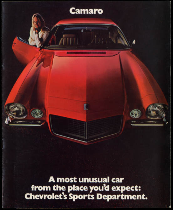 Image for 1970 Chevrolet Camaro Sport Coupe RS SS Z28 sales brochure