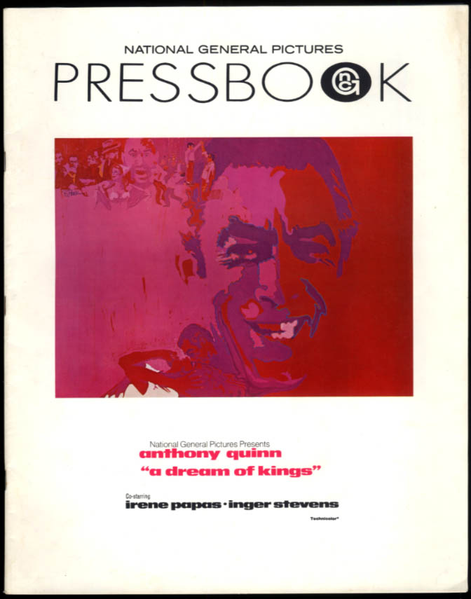 A Dream of Kings National General Pictures movie Pressbook 1969 Anthony Quinn