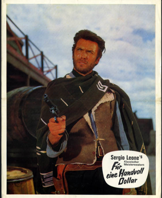 Sergio Leone's Fur eine Hanvoll Dollar Fistful of Dollars German miniposter 1964