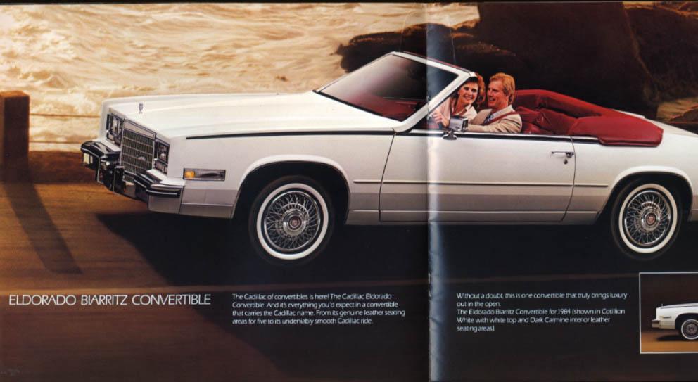1984 Cadillac brochure de Ville Fleetwood Brougham Eldorado Seville Cimarron