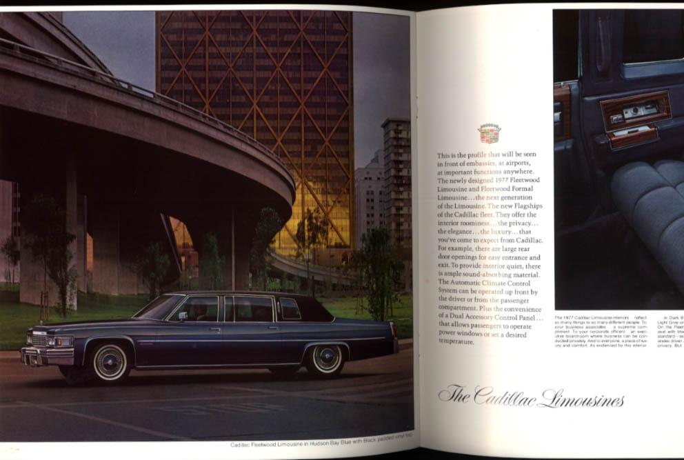 1977 Cadillac brochure Fleetwood Brougham de Ville & Limousines