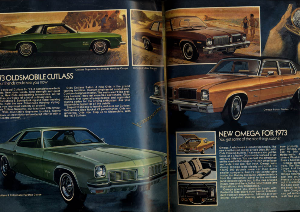 GM of Canada 1973 Chevrolet Pontiac Oldsmobile Camaro Firebird Buick tabloid
