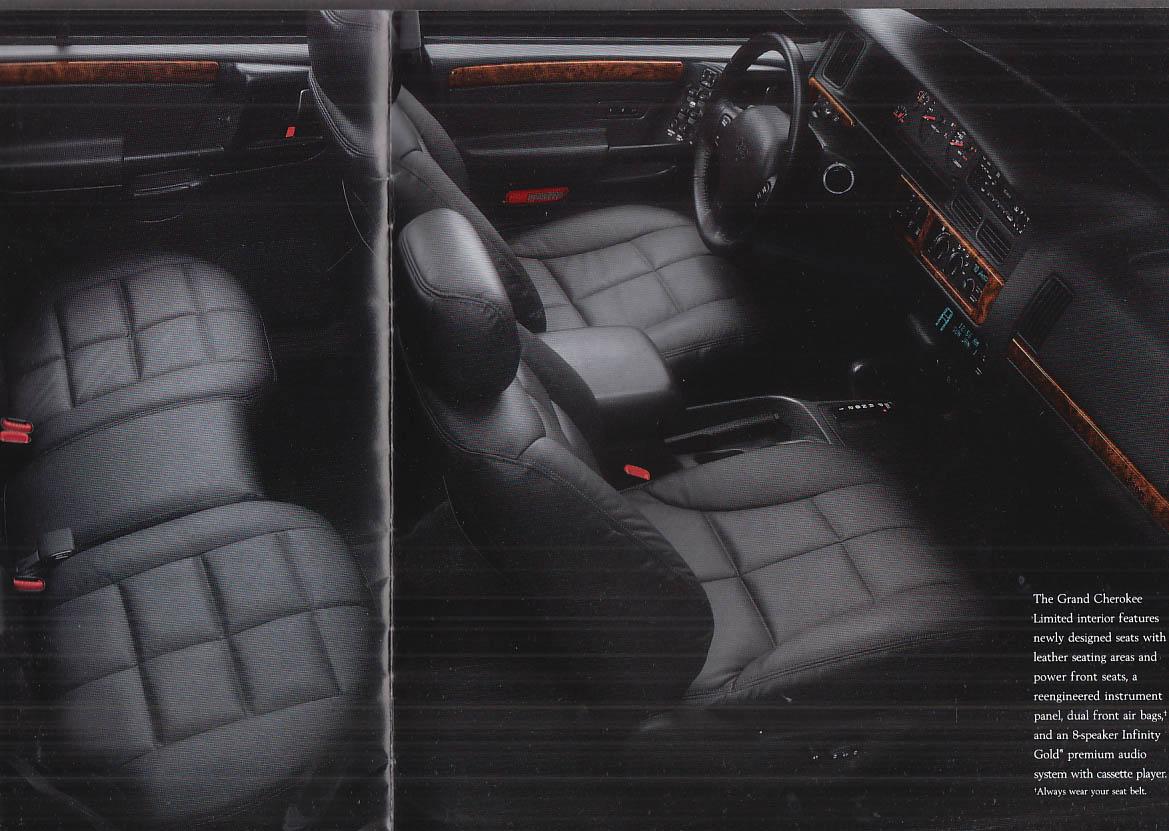 1996 Jeep brochure Cherokee Grand Cherokee