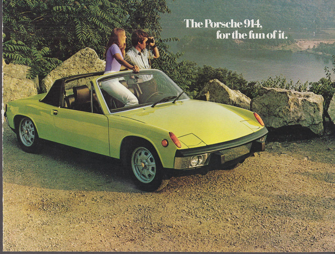 1973 Porsche 914 & 914S for the fun of it sales folder