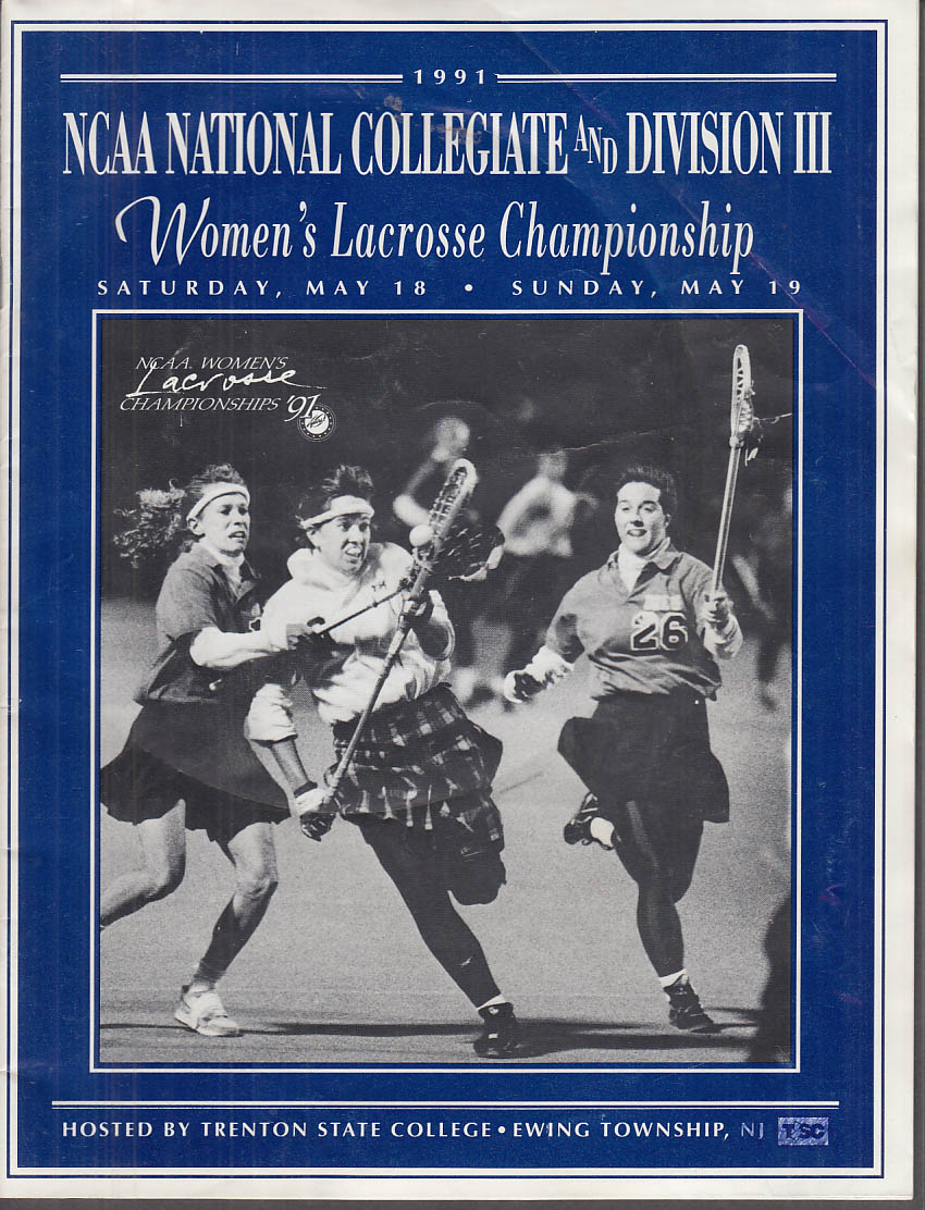 1991 NCAA & Division III Women's Lacrosse Final Four Program