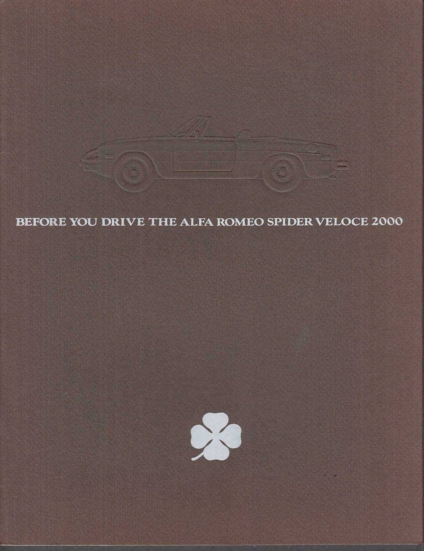 1978 Alfa Romeo Spider Veloce 2000 sales brochure