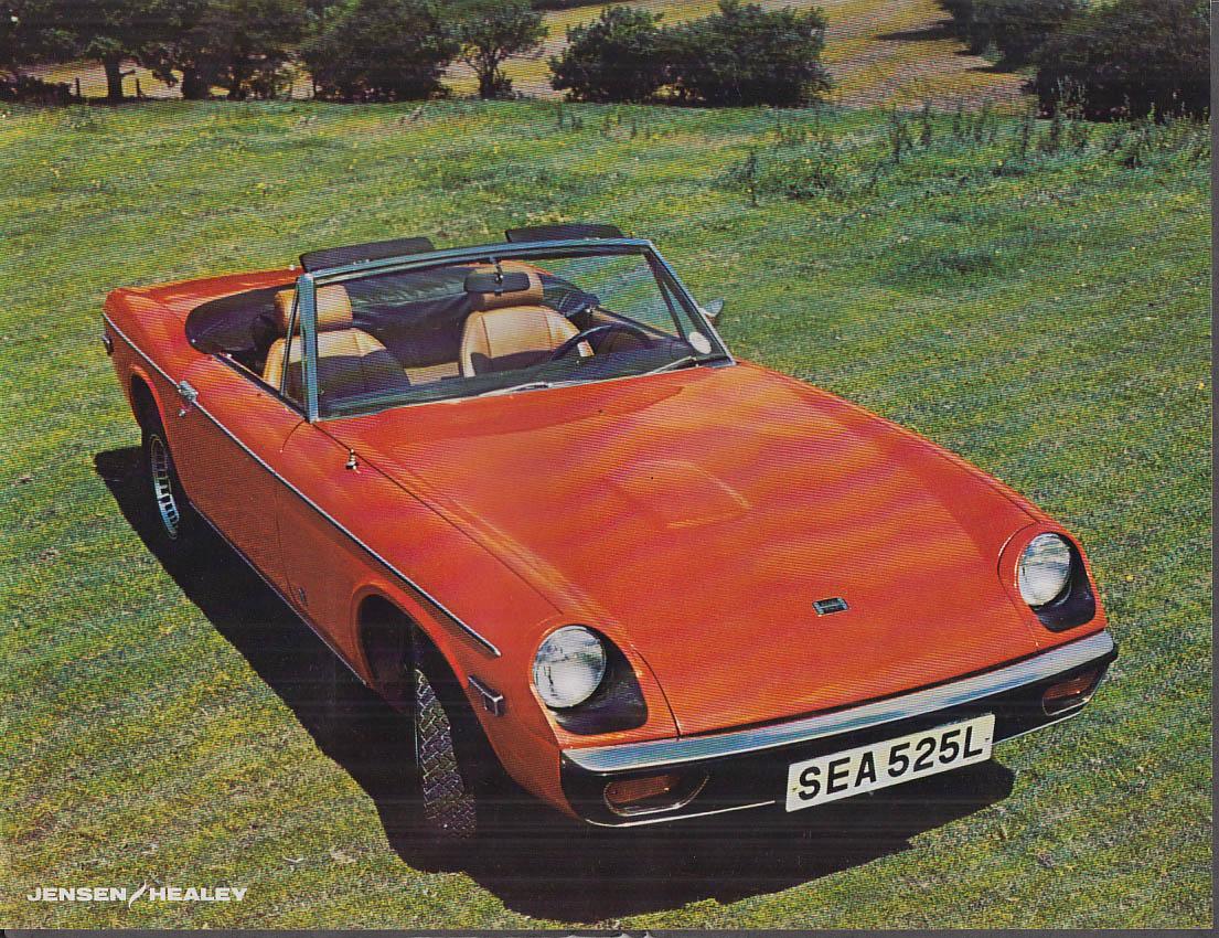1974 Jensen-Healey sell sheet 26.1 MPG