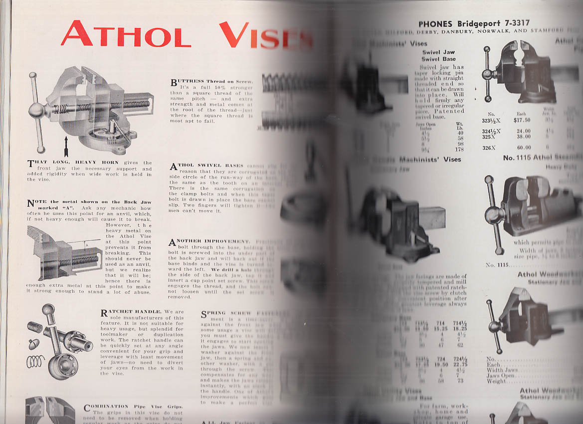 Ellsworth Tool Steel & Industrial Supplies Catalog 1944 Stratford CT
