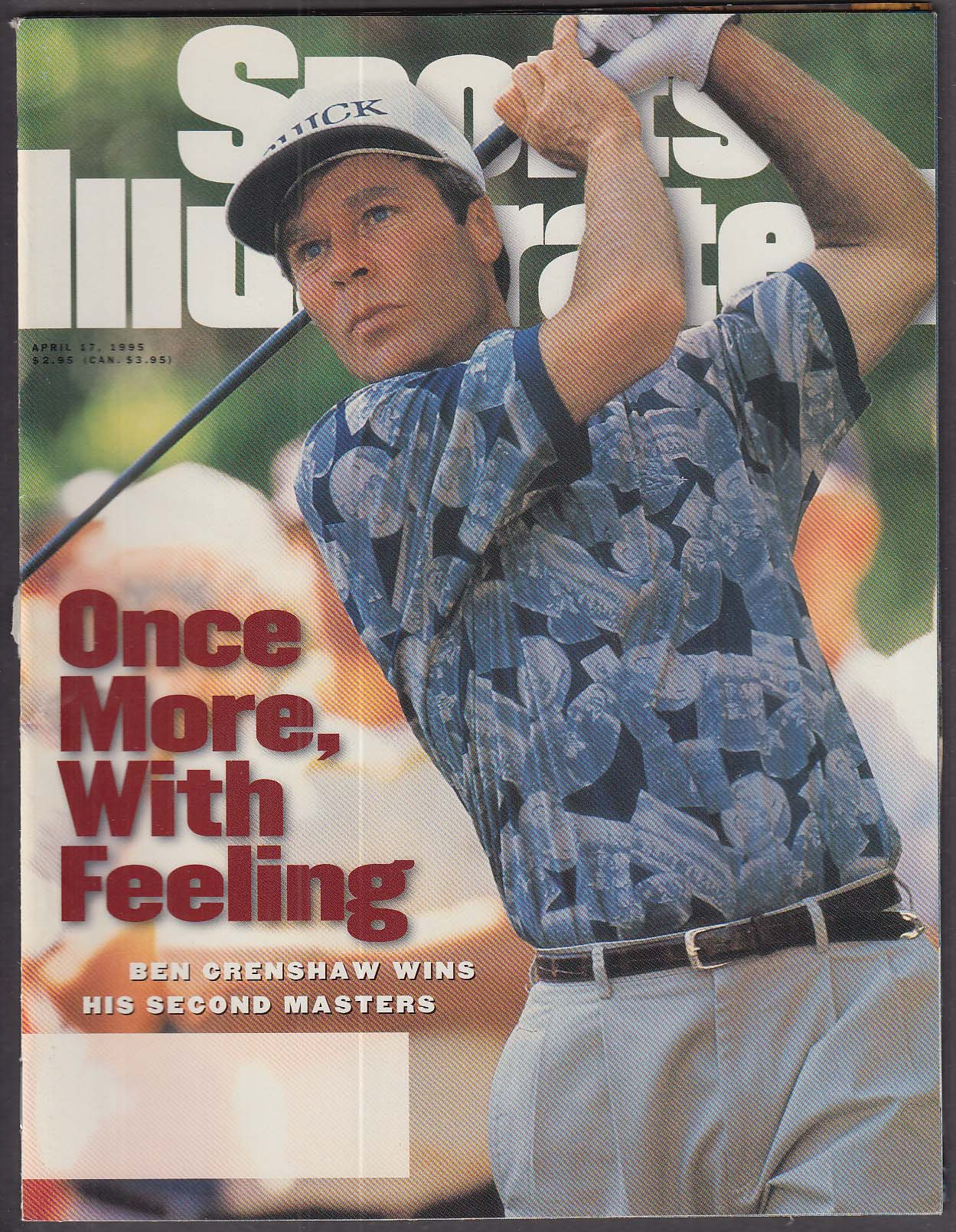SPORTS ILLUSTRATED Ben Crenshaw Jim Carey ++ 4/17 1995