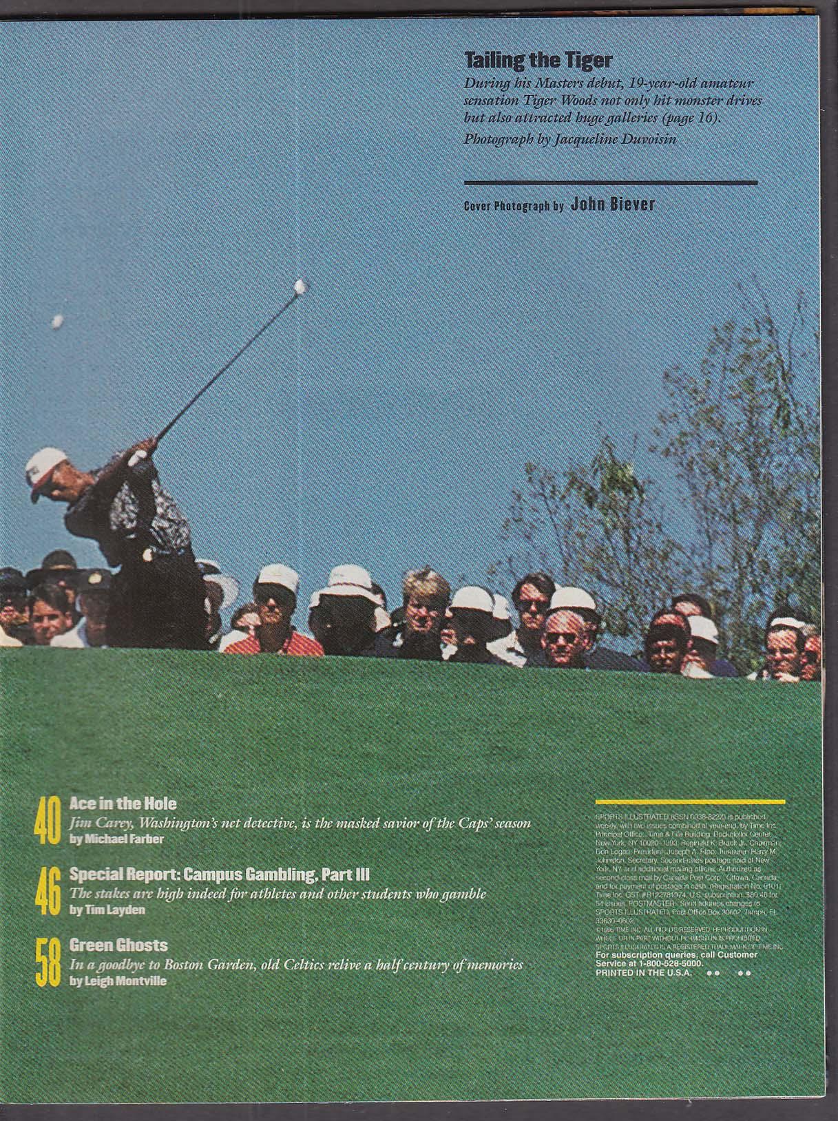 SPORTS ILLUSTRATED Ben Crenshaw Jim Carey ++ 4/17 1995