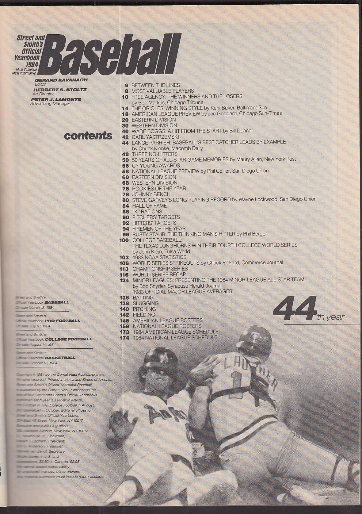 Street & Smith's 1984 BASEBALL YEARBOOK Dale Murphy Ryan Carlton Orioles ++