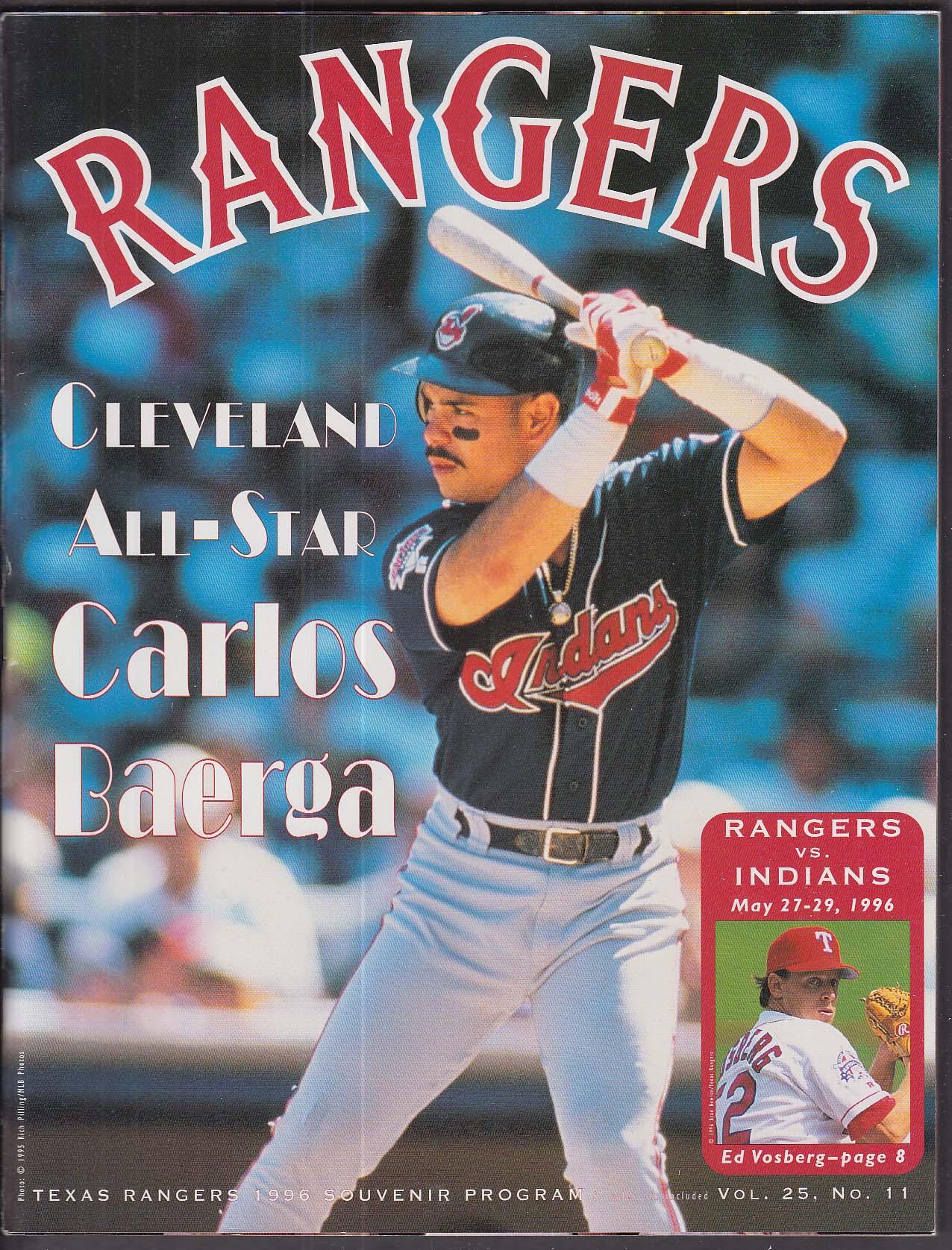 771217e5d2 Texas Rangers 1996 Souvenir Program SCORED vs Cleveland Indians