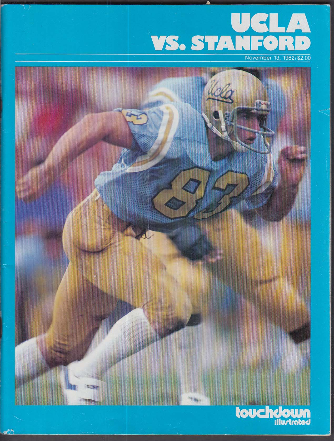 TOUCHDOWN ILLUSTRATED UCLA vs Stanford 11/13 1982