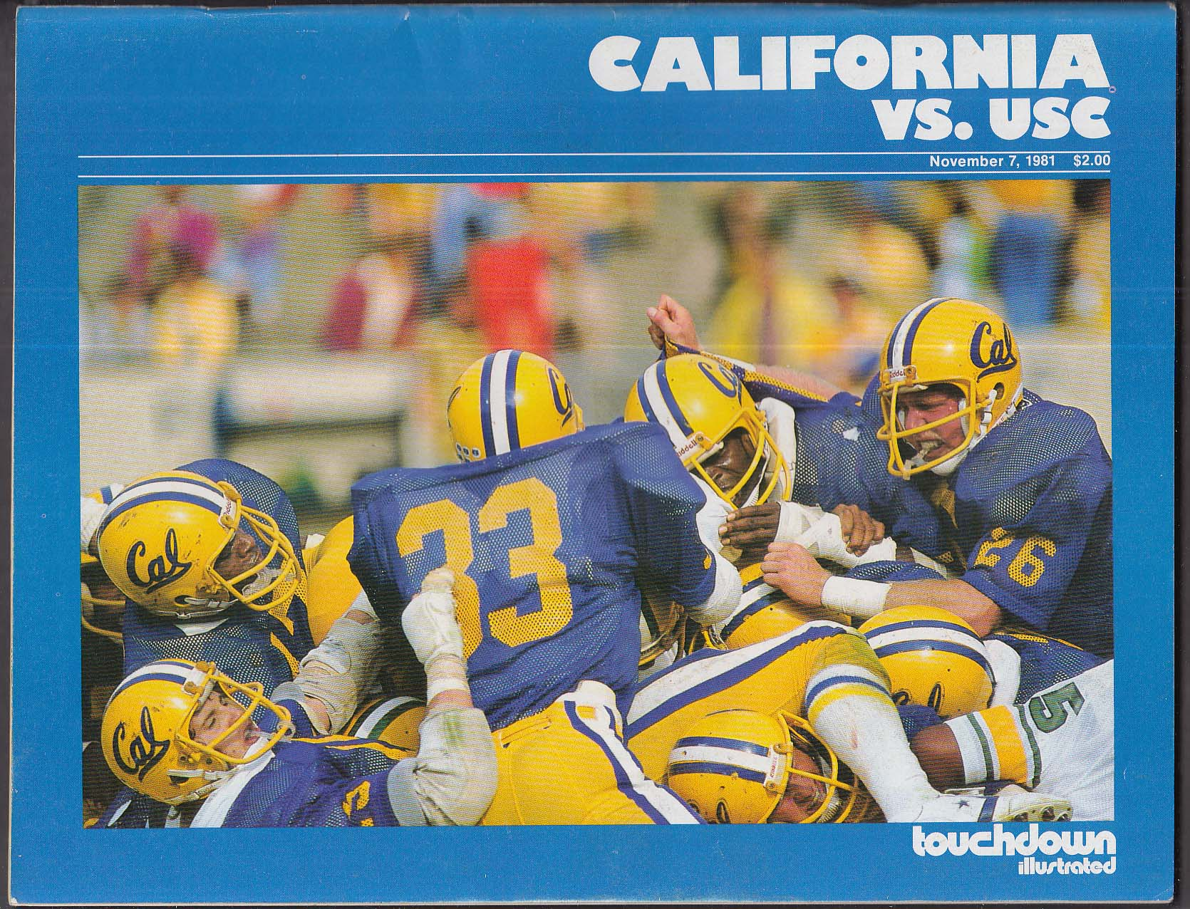 TOUCHDOWN ILLUSTRATED California vs USC 11/7 1981
