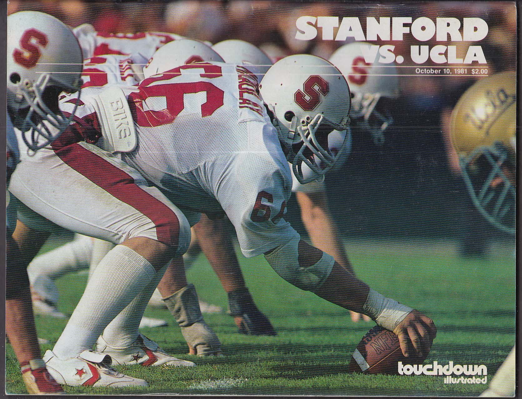 TOUCHDOWN ILLUSTRATED Stanford vs UCLA 10/10 1981