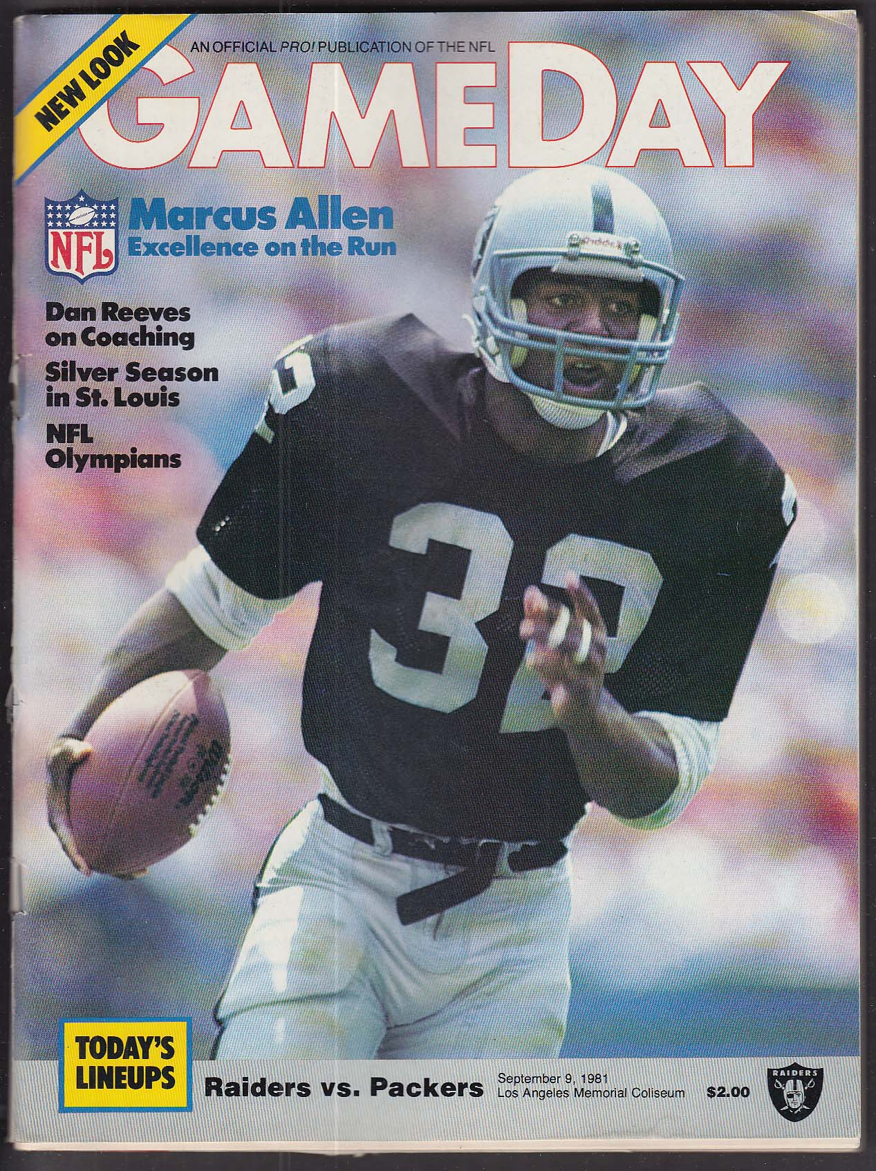 GAMEDAY Marcus Allen 9/9 1984 Raiders vs Packers