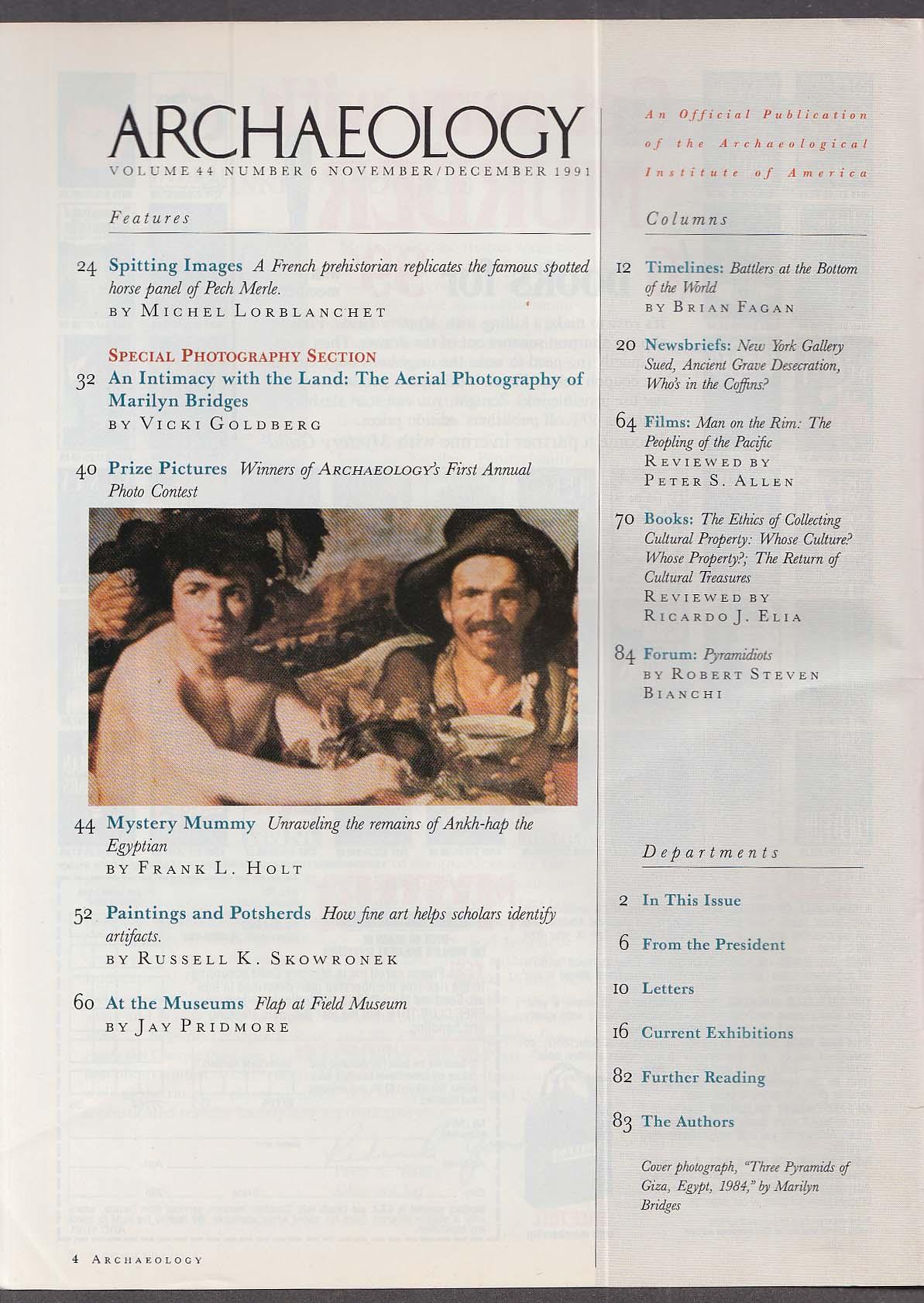 ARCHAEOLOGY Marilyn Bridges Ankh-hap Mummy ++ 11-12 1981