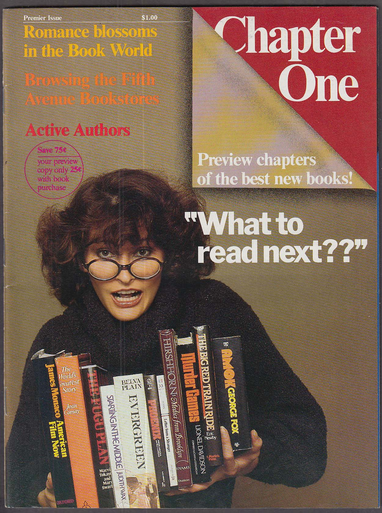 CHAPTER ONE #1 Fifth Avenue Bookstores; Romance; Reviews ++ 5-6 1979