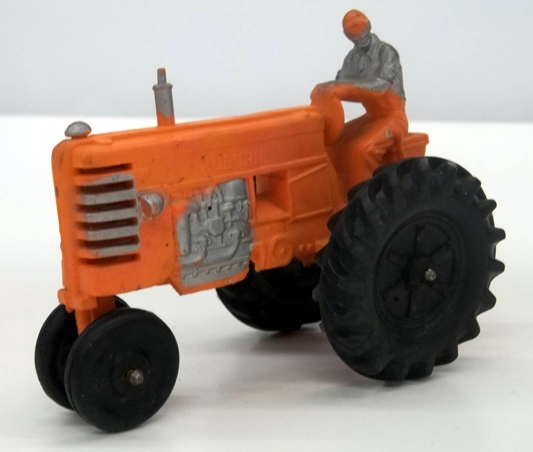 "Auburn Rubber orange Farm Tractor 5 1/4"" long"