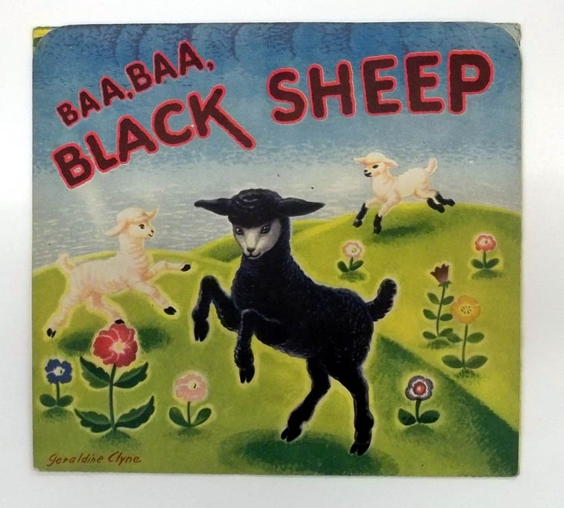 Baa Baa Black Sheep pop-up by Geraldine Clyne ca 1940s