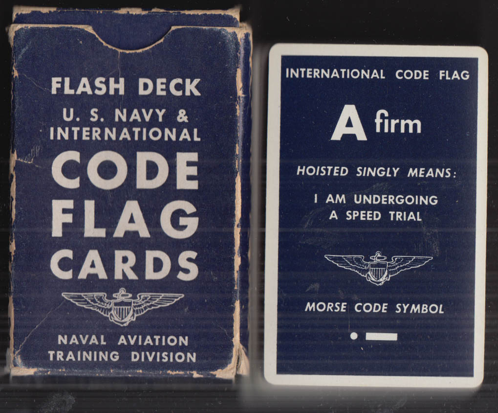 US Navy & International Code Flag Signals Flash Deck of 67 cards