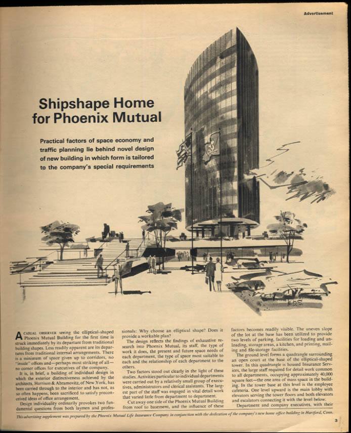 Phoenix Mutual Life Insurance Building NY Times Supplement 11/24 1963