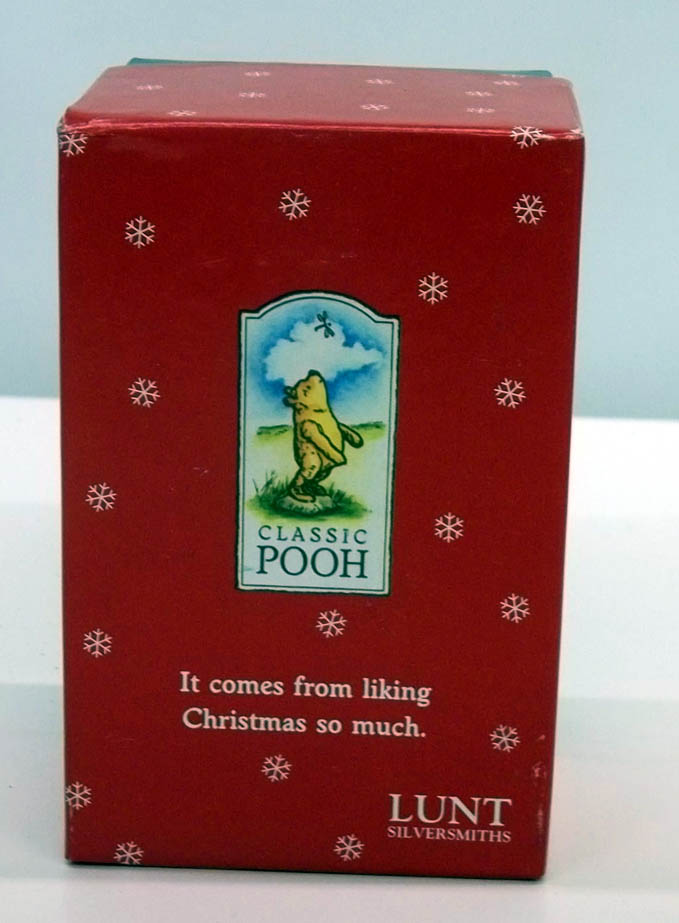 Lunt Silversmiths Classic Winnie the Pooh Christmas Bell 1998 MIB