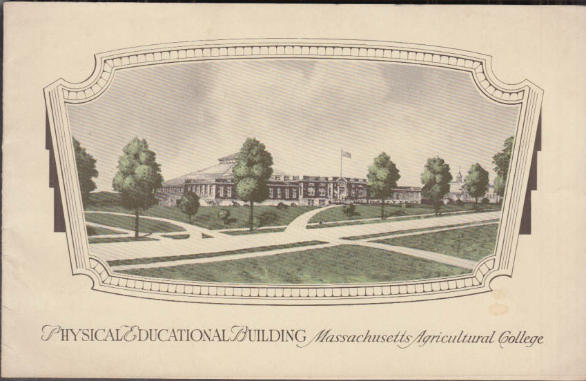 Massachusetts Agricultural College Physical Education Bldg fundraiser 1929