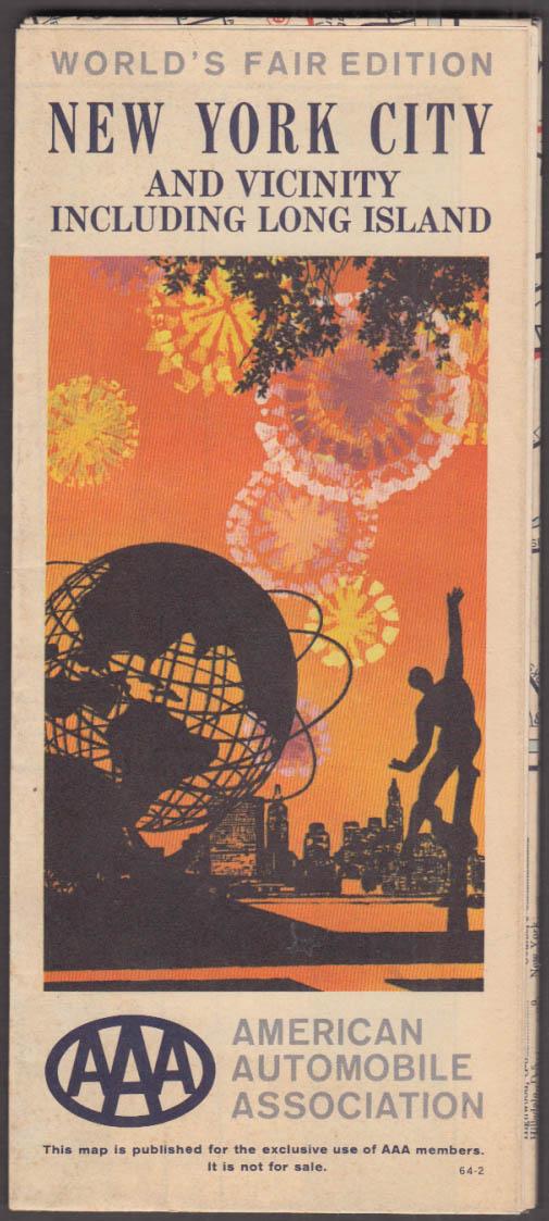 Image for AAA New York City & Vicinity & Long Island World's Fair edition 1964