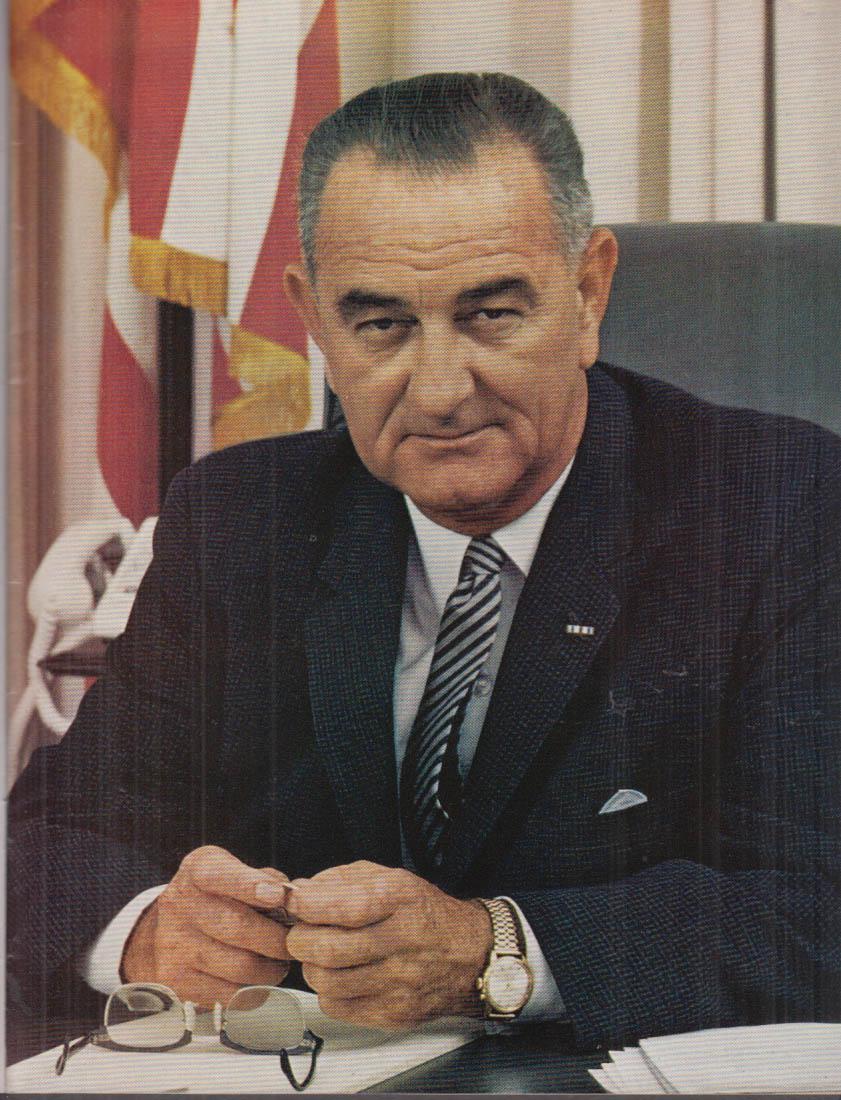 Lyndon Johnson Hubert Humphrey Official Inauguration Program 1965