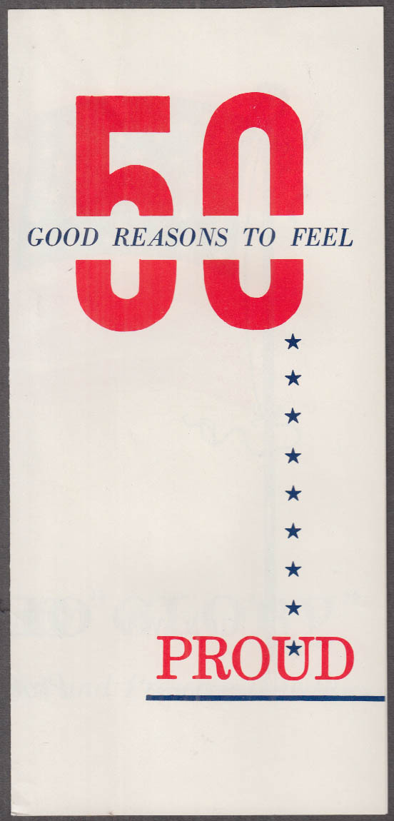 50 Reasons to Feel Proud Nixon-Lodge for Presidential Ticket folder 1960