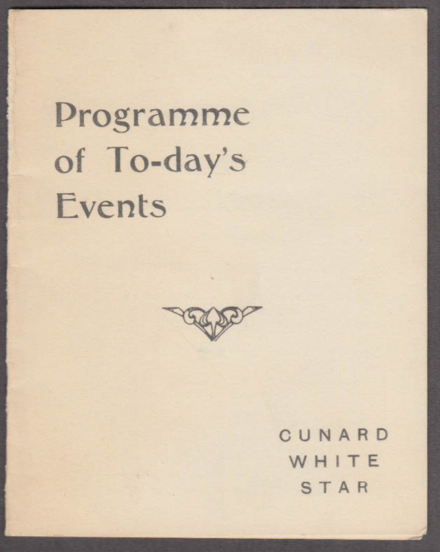 Cunard Line M V Georgic West Indies Cruise Daily Programme 4/14 1935