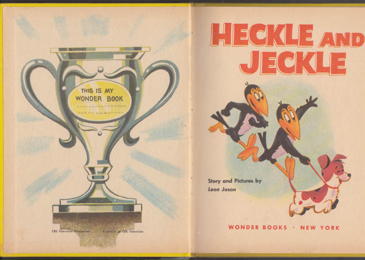 Heckle & Jeckle Wonder Books #694 1957 Terry Toons CBS-TV tie-in book