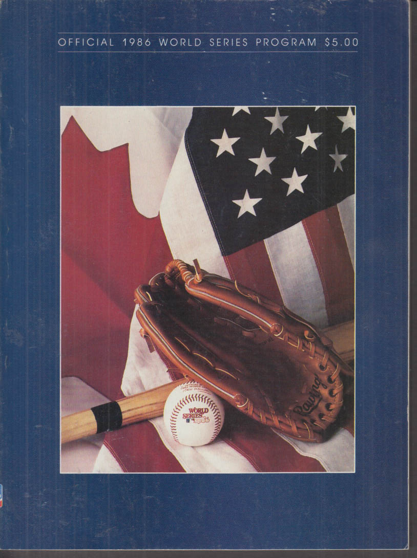 1986 World Series Program New York Mets vs Boston Red Sox