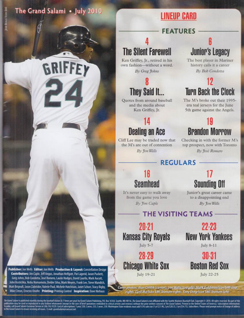 a534228ba9 The GRAND SALAMI 7 2010 Ken Griffey Jr Farewell; partly scored vs Yankees