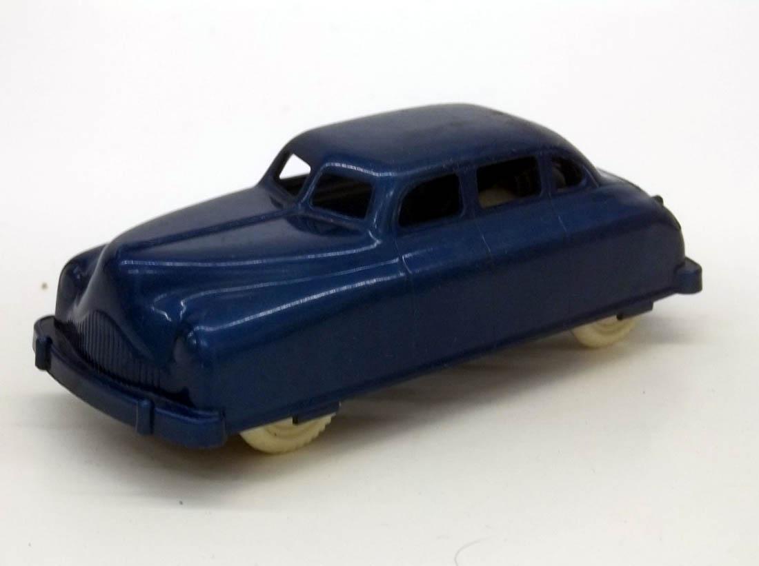 "Renwal blue plastic four-door sedan 4 1/4"" long 1950s"